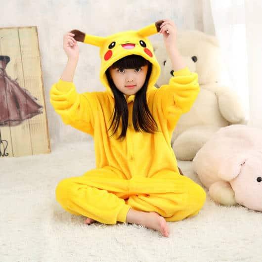 Pijama Pikachu Infantil para meninas