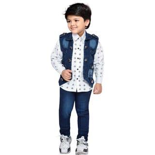 Colete Infantil Masculino: Jeans