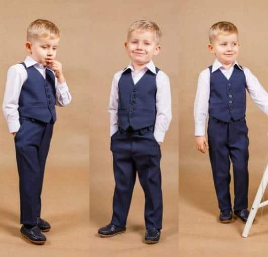 Colete Infantil Masculino: Social azul