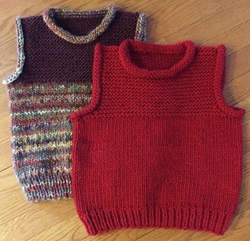 Colete Infantil Masculino: Em crochê vermelho