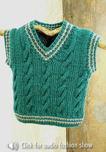 Colete Infantil Masculino: Em crochê verde