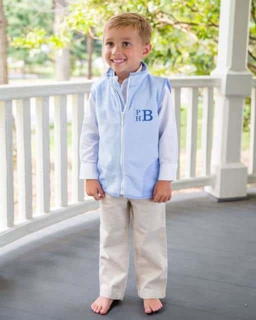 Colete Infantil Masculino: Com zíper azul