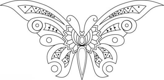 Desenho de borboleta com para colorir