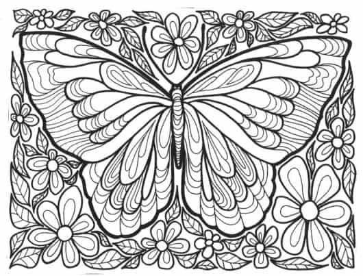 Desenho De Borboleta Para Colorir 40 Modelos Lindos Para Imprimir