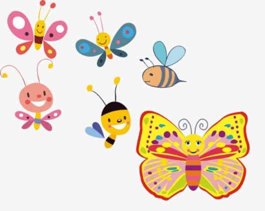 Os desenhos de borboletas são inspiradores