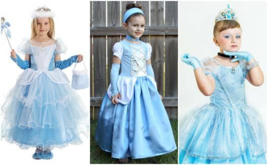 fantasias da Cinderela para crianças