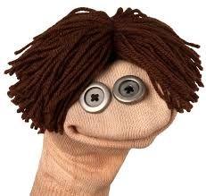 Fantoche de meia: Com cabelo