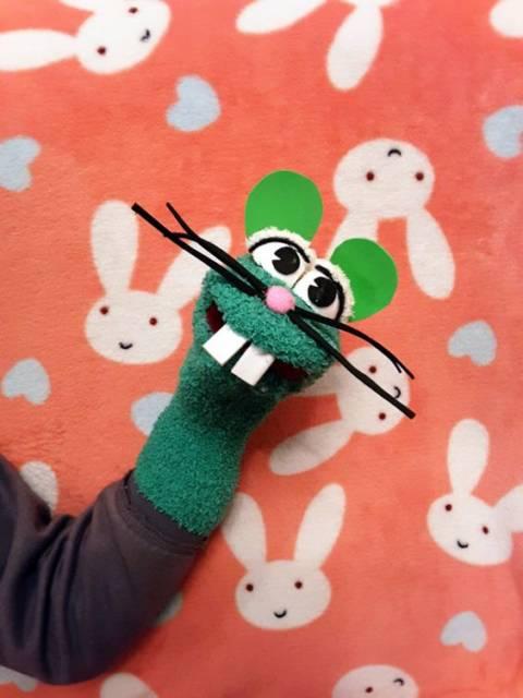 Fantoche de meia: Rato verde