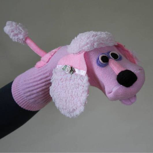 Fantoche de meia: Poodle