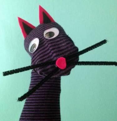Fantoche de meia: Gato