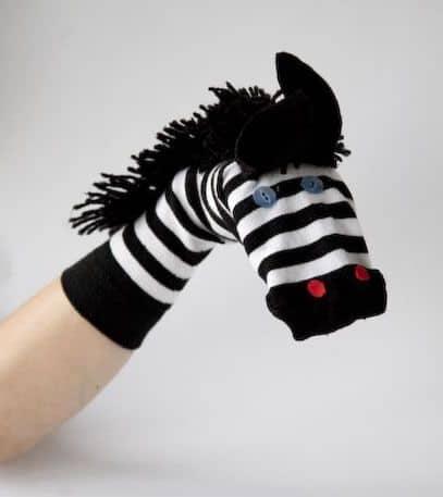 Fantoche de meia: Zebra