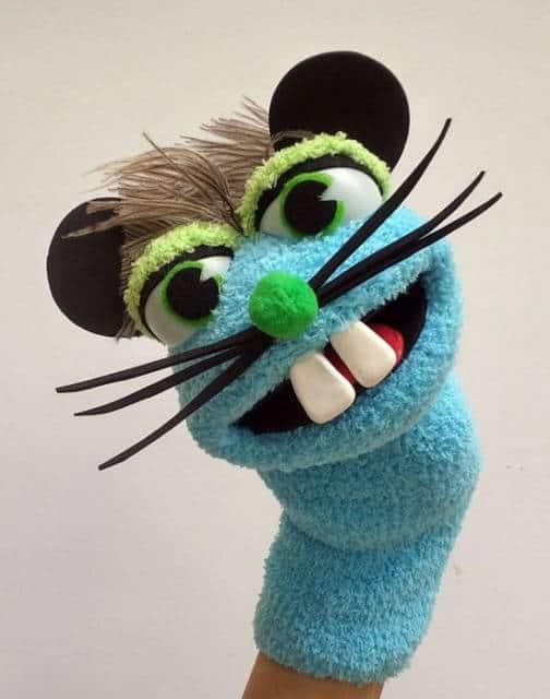 Fantoche de meia: Rato azul