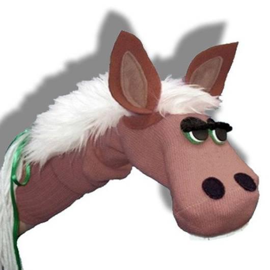 Fantoche de meia: Cavalo marrom