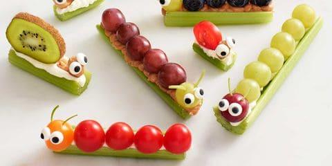Os lanches divertidos incentivam a alimentação saudável das crianças