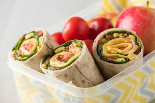 Ideia de wrappers saudáveis para o lanche das crianças