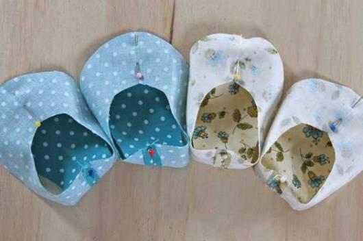Sapatinho de bebê: Em tecido azul