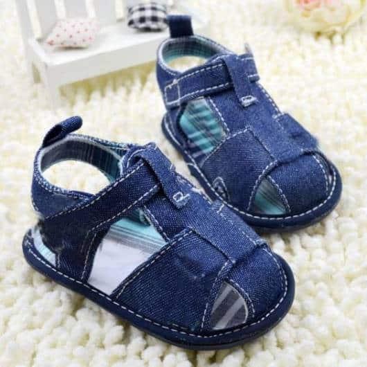 Sapatinho de bebê: Azul