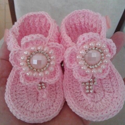 Sapatinho de bebê: Rosa