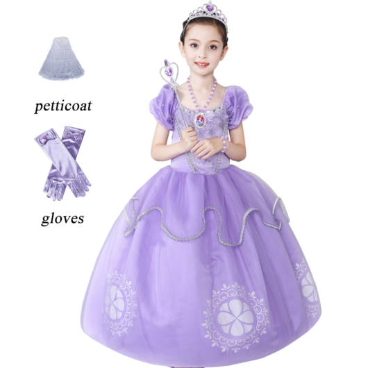 Vestido longo infantil: Princesa Sofia
