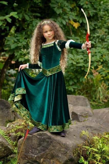 Vestido longo infantil: Merinda