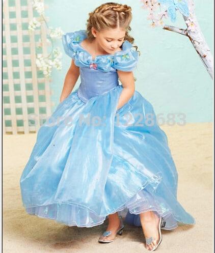 Vestido longo infantil: Cinderela