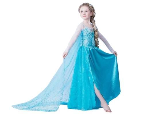 Vestido longo infantil: Frozen