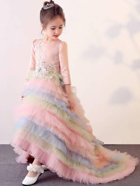 Vestido longo infantil: Unicórnio