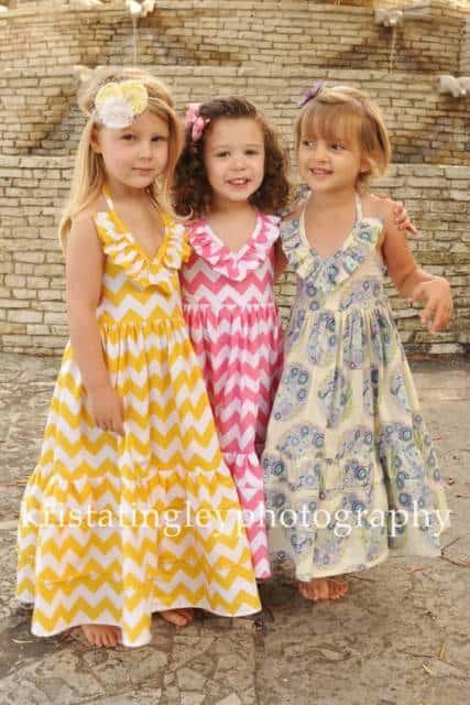 Vestido longo infantil: Para formatura estampado