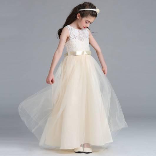 Vestido longo infantil: Para formatura branco