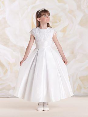 Vestido longo infantil: Dama de honra branco
