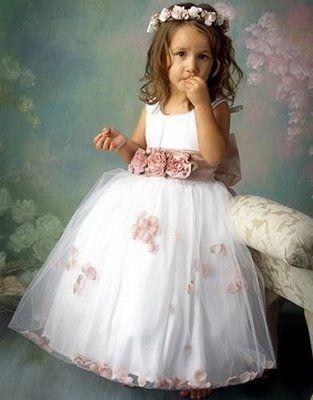 Vestido longo infantil: Dama de honra rodado