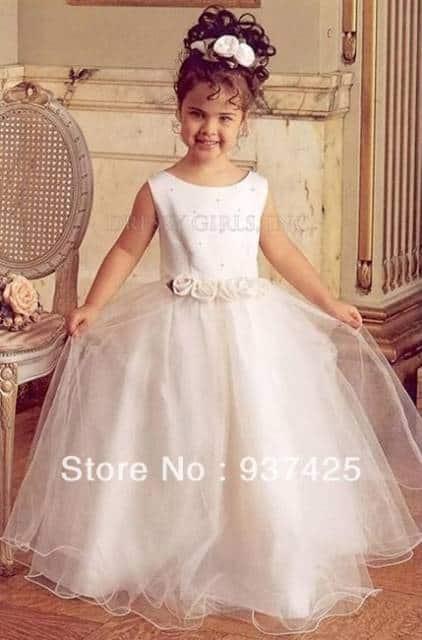 Vestido longo infantil: Dama de honra rosa