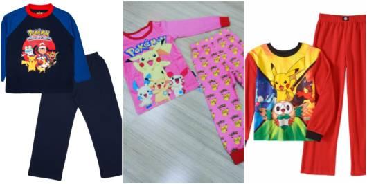 pijamas pokemon para meninos e meninas