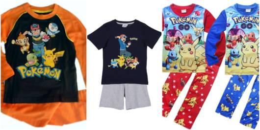Há pijamas com estampas do desenho e do jogo Pokemon Go