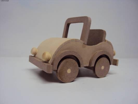 carrinho de madeira