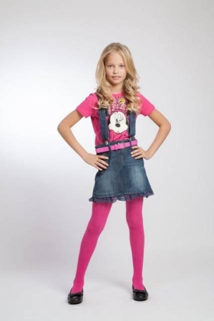 look com meia-calça pink