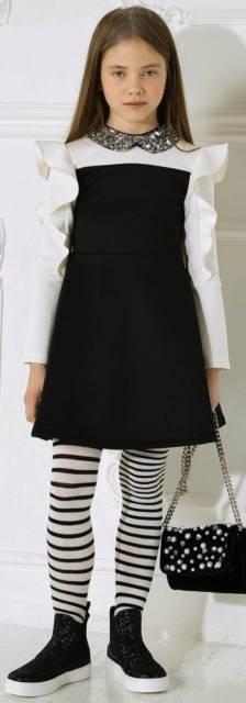 look infantil preto e branco
