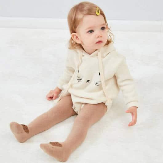 meia-calça estampada para bebês