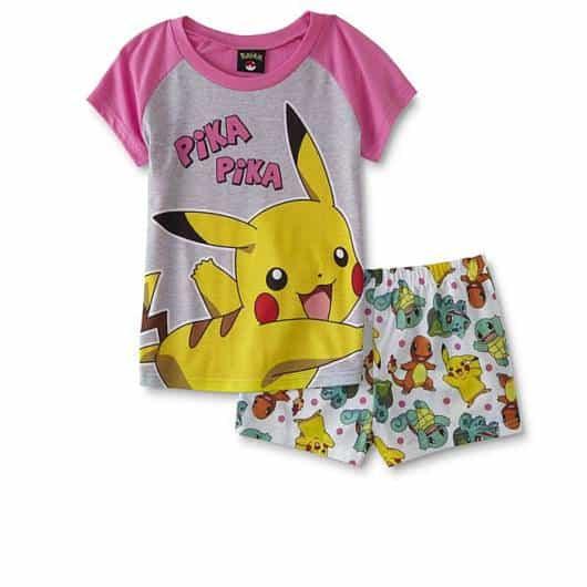 Pijama Pokemon com camiseta e short estampados