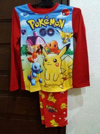 Os meninos vão curtir o pijama com estampas do Pokemon