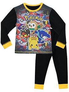 Pijama preto estampado do Pokemon