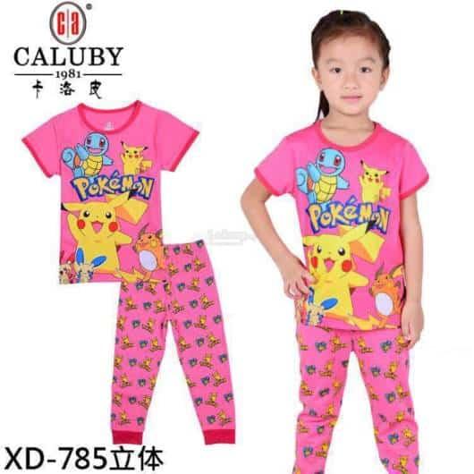 Conjuntinho de pijama para meninas do Pokemon