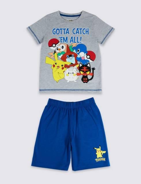Pijama perfeito para o verão para meninos que gostam de Pokemon