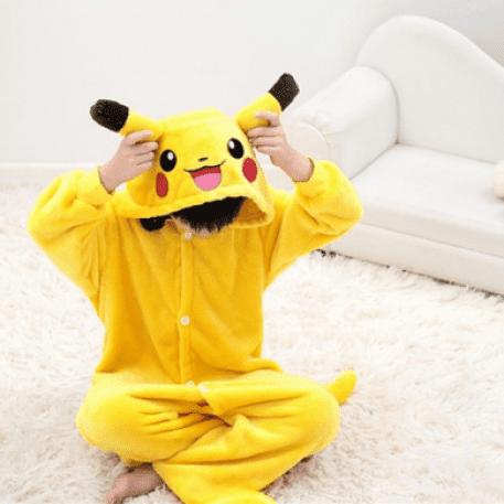 O pijama no estilo macacão faz o maior sucesso pokemon