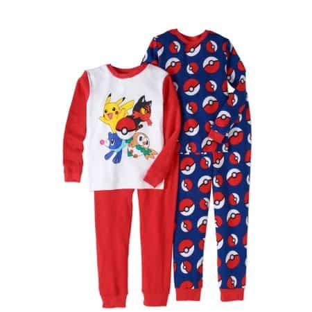 Duas versões de pijamas do Pokemon