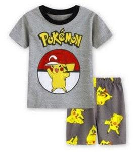 Pijama masculino de verão do Pokemon