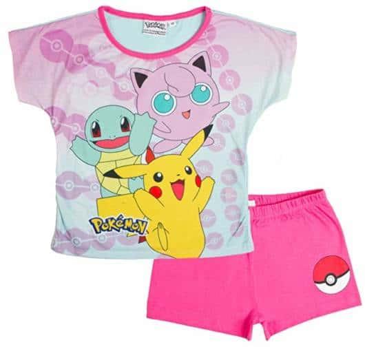Pijama de verão para meninas do Pokemon