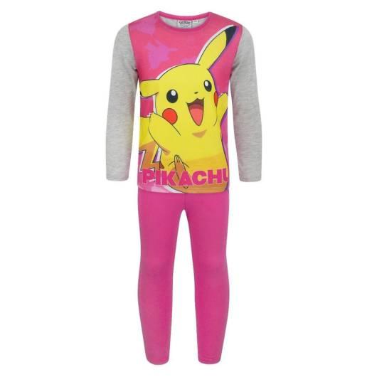 Modelo de pijama pokemon na cor pink
