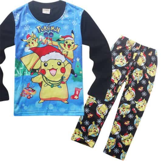 Veja que lindo esse pijama estampadinho para meninos pokemon