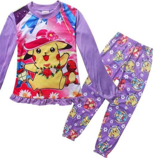 Pijama Pokemon lilás